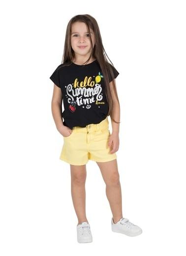 Silversun Kids Kız Çocuk Dokuma Cepli Örme Şort Sc 215532 Sarı